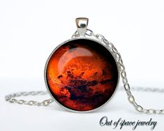 Mars Pendant Mars Necklace Mars Jewelry  by outofspacejewelry, $13.75 Someone buy me this.