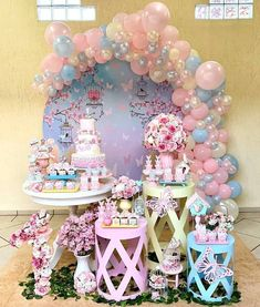 2nd Birthday Party For Girl, 10th Birthday, Bridal Shower Decorations, Diy Party Decorations, Baby Shower Fun, Alice, Backdrops, Templates, Garden Birthday Parties