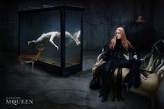 Brand: Alexander McQueen  Year: Fall 2002  Model: Tatiana Urina  Photographer: Steven Klein   lovely!