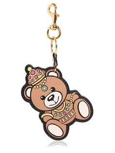Moschino - teddy bear leather key holder