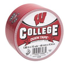 University of Wisconsin College Duck Tape® brand duct tape http://duckbrand.com/products/duck-tape/licensed/college-duck-tape/wisconsin-188-in-x-10-yd?utm_campaign=college-duck-tape-general&utm_medium=social&utm_source=pinterest.com&utm_content=college-duck-tape