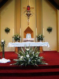 arrangement church altar white-4