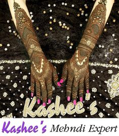 Kashee's Beauty Parlour Bridal Make Up Kashee's Mehndi Designs, Traditional Mehndi Designs, Back Hand Mehndi Designs, Stylish Mehndi Designs, Wedding Mehndi Designs, Beautiful Mehndi Design, Mehndi Design Images, Latest Mehndi Designs, Heena Design