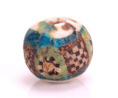 Roman Mosaic Glass Bead with Face Head   eBay