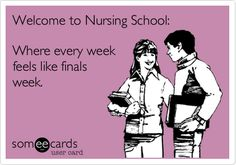 Haha! I agree! Nursing is like a marathon of final exams!