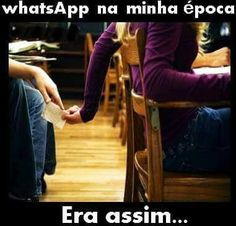 O WhatsApp da minha época kkkk