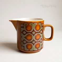 Vintage 1970s Retro Hornsea Pottery 'BRONTE' Milk Jug Pitcher by UpStagedVintage on Etsy