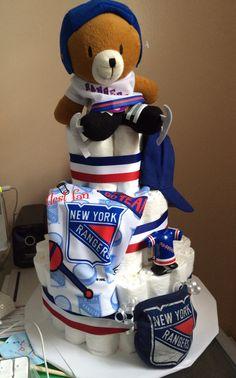 New York Rangers diaper cake