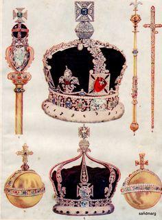 1921 British Crown Jewels More