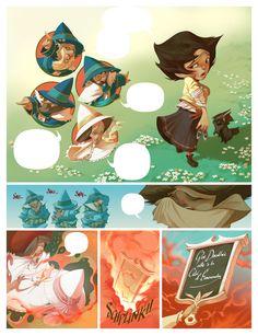 THE WIZARD OF OZ comic book PAGES by Enrique Fernandez, via Behance