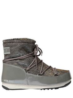 MOON BOOT WE LOW GLITTER NYLON BOOTS. #moonboot #shoes #boots