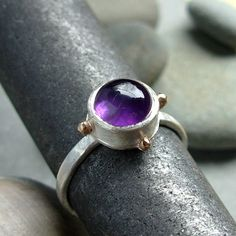 Sovereign Splendor Handmade Sterling Silver and Gold Ring by Che4uDesigns, $68.00
