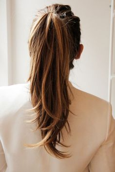 Before we begin the old step-by-step on How to Do a Black Tie Ponytail, there
