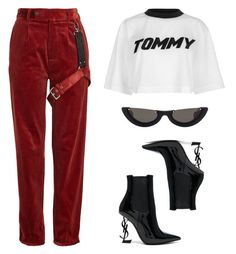 """TOMMY"" by baludna ❤ liked on Polyvore featuring Alyx, Tommy Hilfiger, PAWAKA and Yves Saint Laurent"