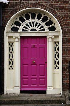 Hot Pink Georgian door