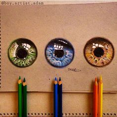 "Instagram Art Featuring Page on Instagram: ""What is your eye colour? By @boy_artist_adam _ Also check out our fellow art page @worldofartists"""