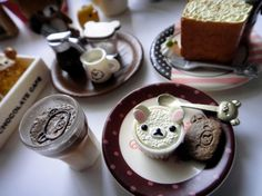 Find images and videos about cute, sweet and kawaii on We Heart It - the app to get lost in what you love. Kawaii Bento, Cute Desserts, Rilakkuma, Bento Box, Cute Food, Little Things, Pretty Little, Tea Party, Eat