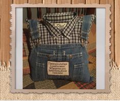 Memory Pillow from Bib Overalls item 110208 Diy Clothes Jeans, Old Baby Clothes, Recycle Old Clothes, Clothes Crafts, Memory Pillows, Memory Pillow From Shirt, Memory Crafts, Make Your Own Clothes, Custom Patches
