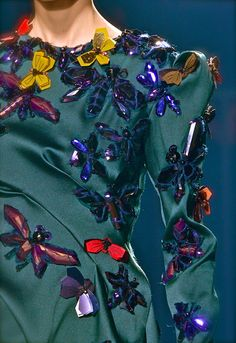 Lanvin F/W 2013 Lanvin the accessories monster. pretty colors butterflies I think loue the silky fabric and the shimmer of ornament