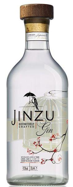 Gin von Jinzu in der 0,7l Flasche mit 41,3 % Vol. Alc.