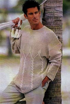 MADE TO ORDER men's sweater hand knitted men by LuxuryKNITTING2013