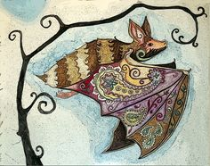 OMG! OMG! OMG! BAT with PAISLEY WINGS!