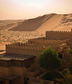 The Desert Oasis Outside of Abu Dhabi