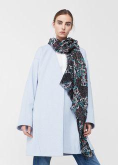 Flower print scarf | MANGO