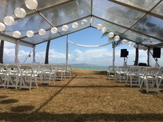 Marquee, paper lanterns and gladiator chairs.. this is how a perfect ceremony at Rex Smeal Park looks like!
