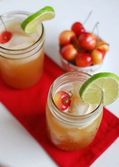 Healthy Cherry Limeade | The Lean Green Bean