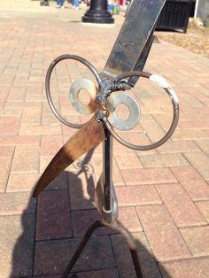 Escultura de golf hierro aves jardín patio arte por nbillmeyer
