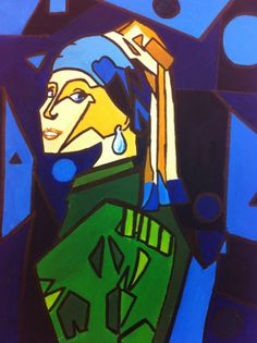 The Girl With the Pearl Earring (Abstract) by PoppycockFanatic13.deviantart.com on @deviantART