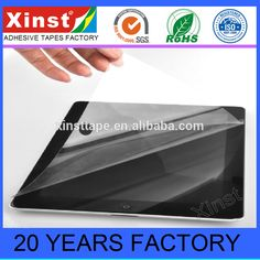Manufacturer PET Silicone Protective Film For Mobile Phone and Tablet PC Screen Protection