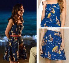lou me before you movie beach surfer print dress clark