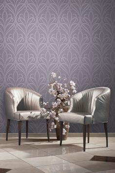 Wallpaper behang paars woonkamer www.behangmijnwoning.nl