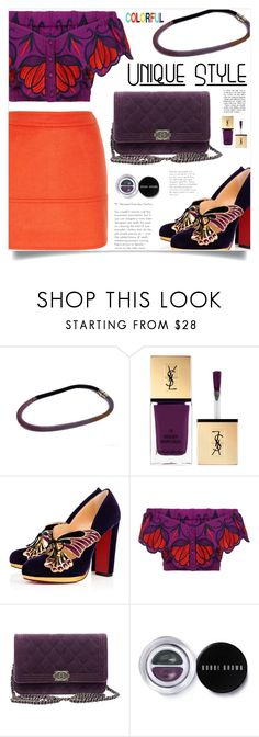 """""""Colorful!"""" by samra-bv ❤ liked on Polyvore featuring Yves Saint Laurent, Christian Louboutin, Chanel, Bobbi Brown Cosmetics and Paul & Joe"""