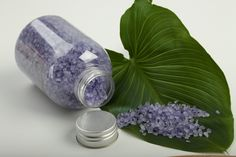 Why buy all those fancy bath salts when you can easily make some by your own in just a few steps. All you need is Epsom salt, some sea salt, your favorite essential oils and a few drops of food coloring to give it a professional, finished look. Feel free to make your most desired combination of scent and coloring and enjoy a luxurious bath!
