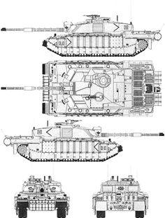 Tank photo British Challenger-ll MBT