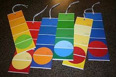 paint chip bookmarks via Gloria Mortlock. So colorful!