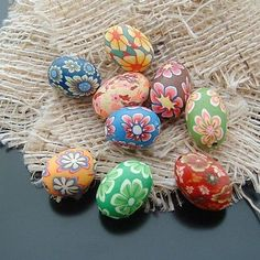 These beautiful handcrafted polymer clay beads are ideal for necklaces, bracelets, earrings, key chains, decorative additions to bags and etc.
