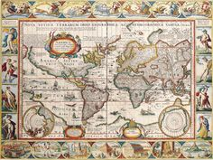 World map print  World map Old maps 123 by mapsandposters on Etsy, $9.99