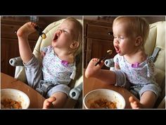 Little Girl Born With No Arms Eats With Feet - YouTube