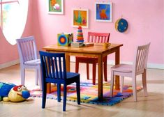 5pcs Kid's Multi Color Table and 4 Chairs Set Acme Furniture http://www.amazon.com/dp/B001LV4UMG/ref=cm_sw_r_pi_dp_hfo2tb0P006YMJC6