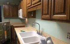 How to Clean That Stubborn Toilet Bowl Ring for .25 Cents | Hometalk Faux Brick Backsplash, Kitchen Backsplash, Diy Kitchen, Kitchen Design, Paint Backsplash, Rental Kitchen, Kitchen Ideas, Kitchen Decor, Kitchen Wallpaper
