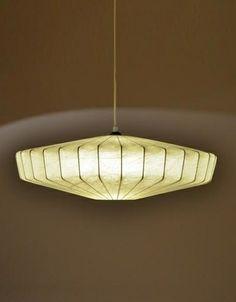 Achille Castiglioni; Metal Wire and Resin Ceiling Lamp, c1960.