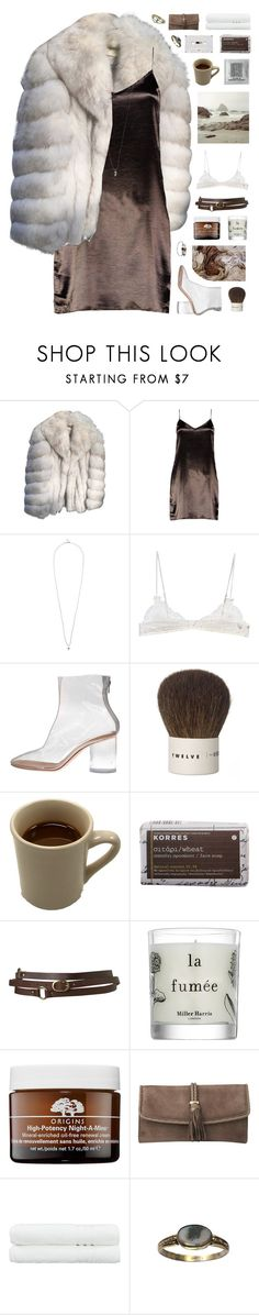 """""""BOTCS Round One"""" by w-eakness ❤ liked on Polyvore featuring Saga Furs, Boohoo, Tina Lilienthal, Ermanno Scervino Lingerie, Maison Margiela, Kent, Korres, Topshop, Miller Harris and Origins"""