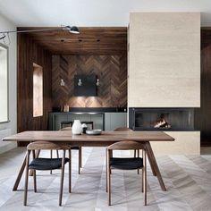 Keuken met houten houten vloer-, plafond-, en wandbekleding! Bekijk meer foto's via link in bio. #keuken #kitchen #kuche #interieur #interior #bolig
