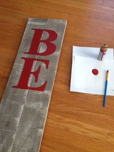 Two It Yourself: DIY Large Christmas Sign {Pottery Barn 'Peace' sign Knockoff} Knock off Decor #DIY Knock Off Pottery Barn