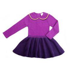 Peter Pan Collar Knit Dress