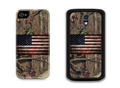 Mossy Oak and a vintage Old Glory phone case.